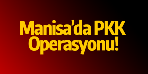 Manisa'da PKK operasyonu: 2 gözaltı